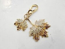 Juicy Couture Charm Pave Leaf Charm for Bracelet new without box