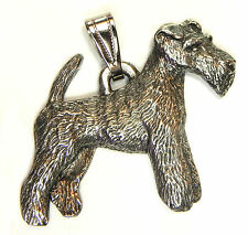 Wire Fox Terrier Pendant Dog Harris Fine Pewter Made in USA jewelry