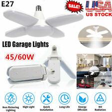 E27 Led Bulb Bright Foldable Deformable Garage Lights Fan Blade Ceiling Lamps Us
