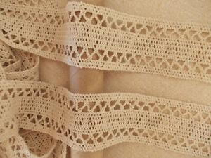 2.8m Beige Natural Cotton Thicker style soft Trim Lace