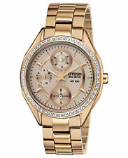 Citizen Eco-Drive Swarovski Crystals Rose Gold Tone Women's Watch FD1063-57X SD