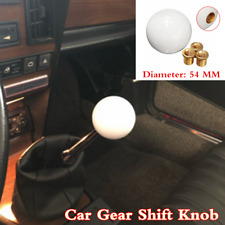 Universal Manual Car Gear Shifter Stick Shift Knob Lever White Round Ball Style