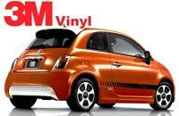 Fiat 500 Graphics Decals Stripes Emblems Trim Kit EE1754 // Models 2011-2019 3M