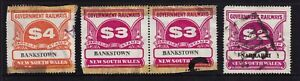 New South Wales Government Railways Parcels Stamps Used