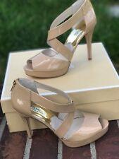Michael Michael Kors Ariel Platform Open Toe Patent Leather Platform Sandal