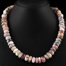 453.60 CTS EARTH MINED PINK AUSTRALIAN OPAL STRAND UNHEATED ROUND BEADS NECKLACE