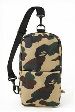 A Bathing Ape Camo Crossbody Bag Bape Messenger Purse Pack Sling Shoulder US#
