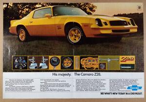 1978 Chevrolet Camaro Z28 vintage centerfold print Ad