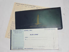 VINTAGE 1950s-60s EASTERN AIRLINES 'FLITE-CHEK' TICKET BOOK! COVER & INSTRUCTION