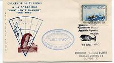 1969 Cruceros de Turismo a la Antartida Continente Blanco Polar Antarctic Cover