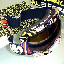 Electric EG1s Snow Goggles-Lips Frame/Bronze with Silver Chrome Mirror Lens -NEW