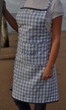 Artefina Schürze * Kochschürze * blau weiß Karo * ROSA 1898 * Baumwolle