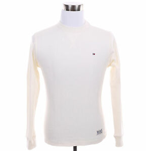 Tommy Hilfiger Men Long Sleeve Stripe Sweat Shirt Crew-Neck Sweater - $0 Ship