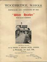 "WOODBRIDGE :1946 ""White Heather'  -sale particulars"