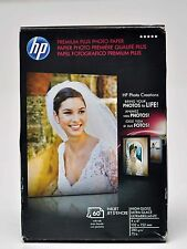 "HP PREMIUM PLUS PHOTO PAPER High GLOSS 4"" X 6"" (60 SHEETS) 5 packs"