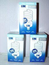 3 Ozone Lite Air Purifier Light Bulb NEW Eliminate Odor Smoke Kill Bacteria TIO2