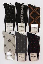 6 Pairs Mens Socks Fashion Adult Crew Dress Socks Pattern Assortment 10-13 KR600