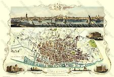 "OLD MAP OF LIVERPOOL 1851 BY JOHN TALLIS 30"" x 20"" PHOTOGRAPHIC PRINT"