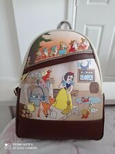 More details for disney loungefly snow white and the seven dwarfs backpack new
