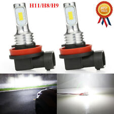 Pair H11 H8 H9 LED Headlights Bulbs Set High/Low Beam Super 80W 8000LM 6000K