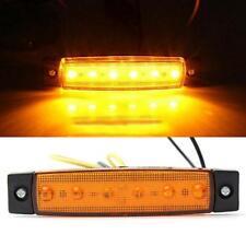 Trailer 6 LED Indicators Light Amber Truck Boat 1PC BUS 12V Side Marker RV Lamp