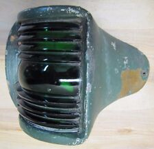 Old Nautical Ship Boat Lamp Green Lense Thick Copper Bronze pivot hd light cover