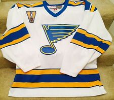 St Louis Blues Jersey CCM Vintage Hockey NHL Officially Licensed Size Large