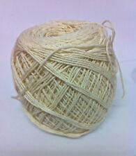 100% Cotton Fine Macrame Cord, Cream - 1mm thick, crochet/knitting/weaving/craft