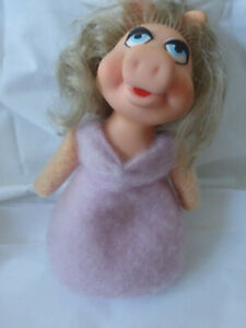 Vintage 1979 Plush Bean Bag Miss Piggy Muppet Doll Fisher Price