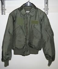 USMC GREEN NOMEX FIRE RESISTANT COLD WEATHER FLYERS JACKET CWU-45/P  MEDIUM