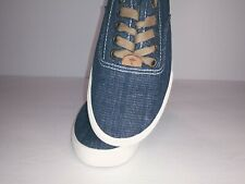 Women's Margaritaville Tennis Shoes Jean Canvas Material Cushioned Sole Size 8
