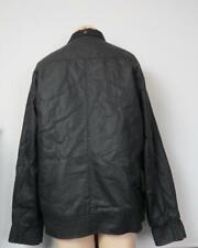 Racing Green black bomber style jacket autumn spring coat size XL
