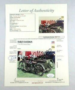 EVEL KNIEVEL SIGNED AUTOGRAPH HARLEY DAVIDSON CARD AUTO JSA LOA