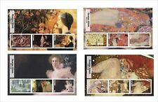 2017 GUSTAV KLIMT   ART PAINTINGS  6 SOUVENIR SHEETS MNH UNPERFORATED