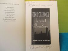 Elizabeth George IN PURSUIT OF THE PROPER SINNER SIGNED Amer 1st ed hc 1999