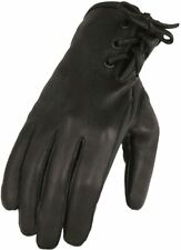Women's Deerskin Leather Riding Glove w/Laced Wrist