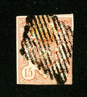 Switzerland Stamps # 12 F Used Scott Value $160.00