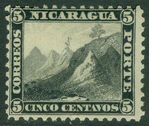 EDW1949SELL : NICARAGUA 1869 Scott #5 Very Fine, Mint Original Gum. Cat