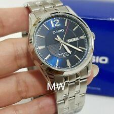 MTP-1335D-2AV MTP1335D Casio Quartz Analog Men's Sports Day Date Blue Dial Watch