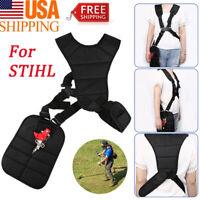 For STIHL Cutter &Trimmer Strimmer Padded Belt Double Shoulder Harness Strap US