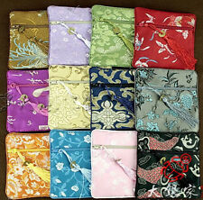 Wholesale30pcs Chinese Vintage Handmade Silk Gift Bags Jewelry Pouch Coin Purse