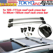 2pcs Roof Rack Cross Bars Lock Anti-theft Snowboard Top Carriers Cars Universal