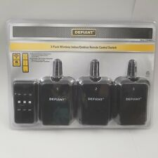 New Defiant 3 Pack Wireless Indoor Outdoor Remote Control Switch