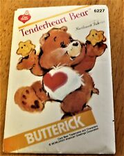 Butterick Pattern #6227 Care Bears - Tenderheart Stuffed Toy 1984 Uncut Vguc