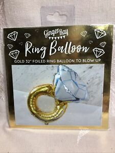 """Ring Balloon ~ Gold 32"""" Foiled Ring"""