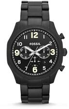 New Fossil Foreman Steel Black Chronograph Date Men Dress Watch 45mm FS4864 $155
