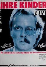 IHRE KINDER - 1984 - Tourplakat - Concert - Heute - Tourposter