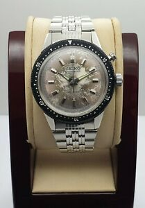 Vintage Seiko  45899 Tokyo Olympic Monopusher Chronograph 5719A  Mens Wristwatch