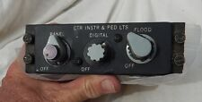 MD-83 Airliner Pilot's Center Instrument Panel & Ped. Lights Control Panel