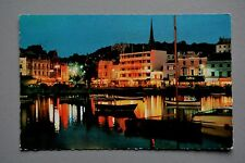 R&L Postcard: Torquay Harbour, Night View, D Constance